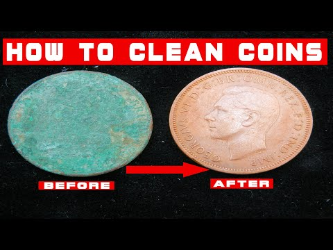 How to clean crusty coins found metal detecting in a Rock Tumbler