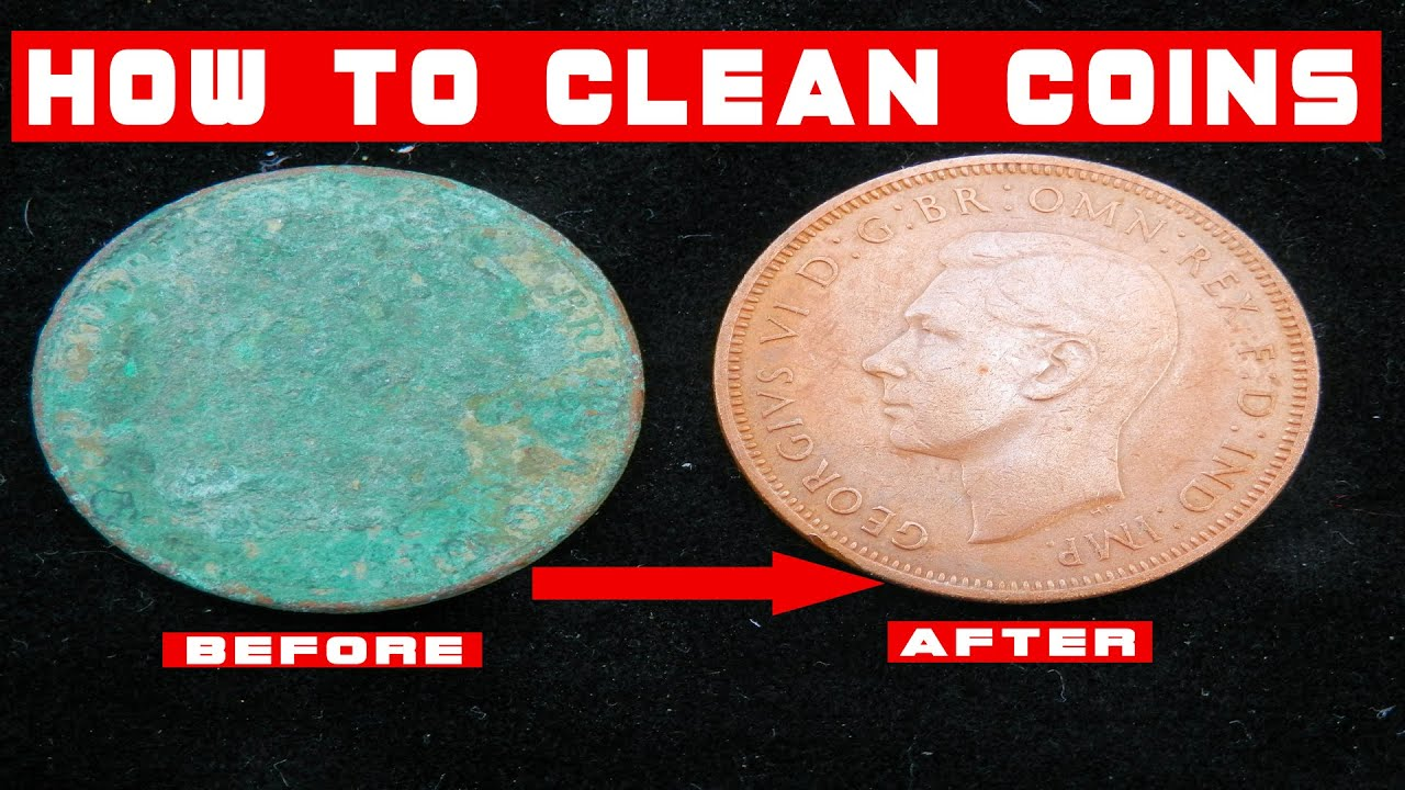 How To Clean Crusty Coins Found Metal Detecting Make Money In Saved Amazing Results