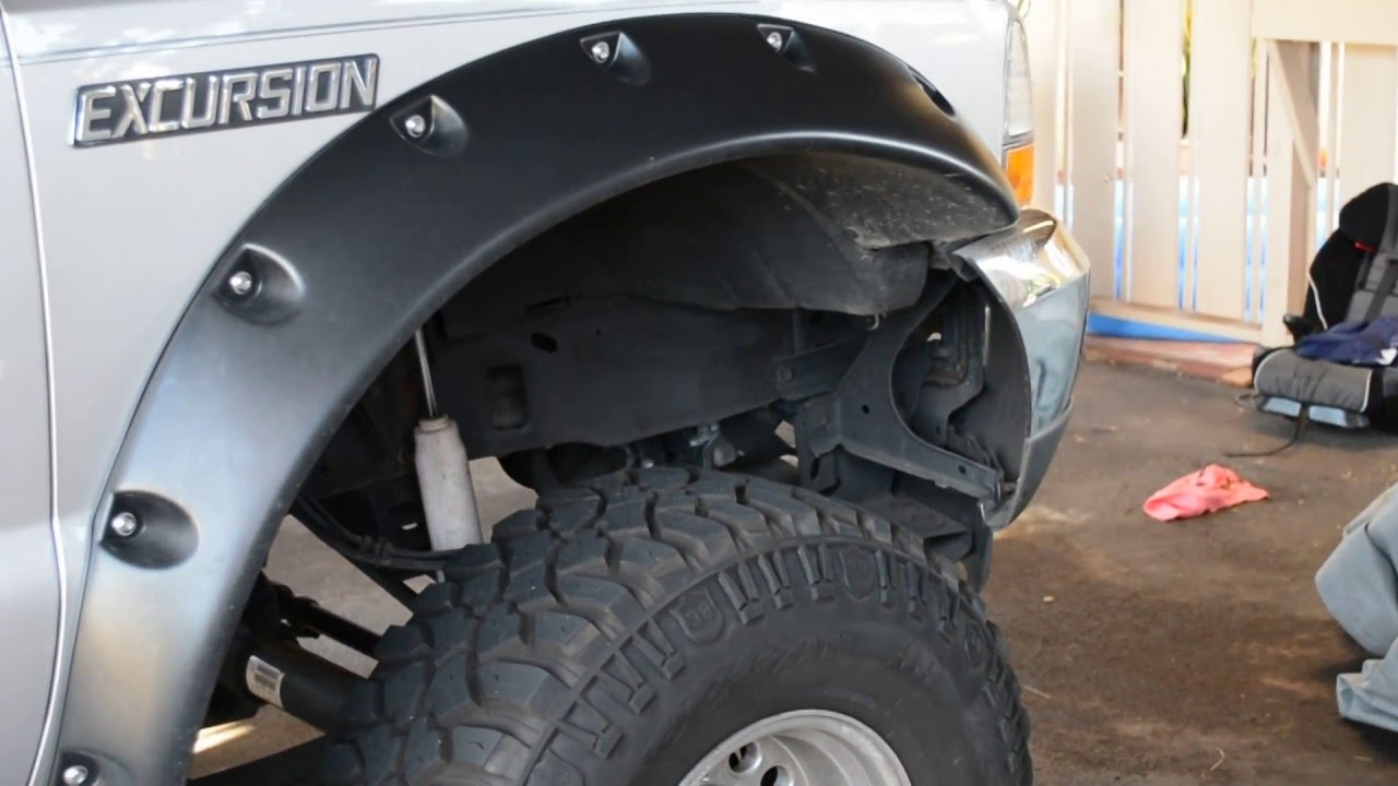 Ford Excursion 2015 >> excursion with bushwacker cutout fender flares - YouTube