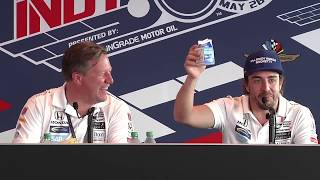 Fernando Alonso Post Indy 500 News Conference