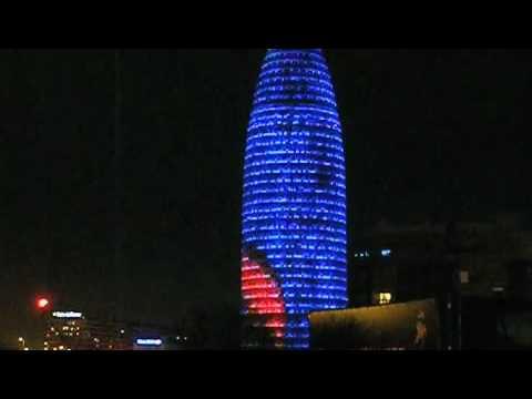 Campanadas 2009 Torre Agbar Barcelona