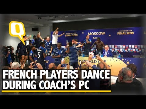 French Players Dance on the Table During Coach's Press Conference | The Quint