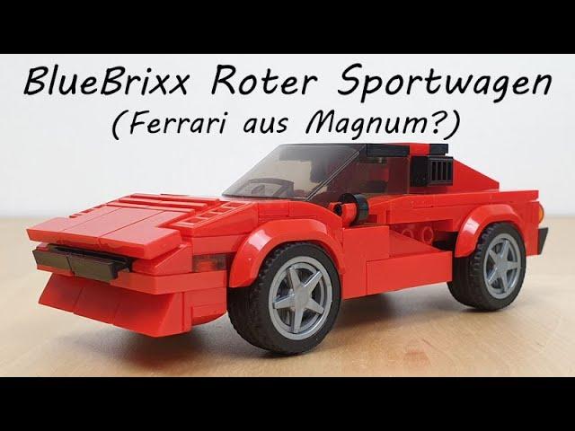 BlueBrixx 102824 Roter Sportwagen (Ferrari 308 GTS aus Magnum?)