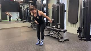 Dumbbell Single Arm Tricep Kickback | Beth Lavis Fitness
