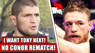 Khabib declined $15 MILLION rematch with Conor McGregor, wants Tony Ferguson next