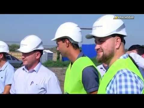 Евгений Первышов посетил Краснодарские очистные сооружения в станице Елизаветинская