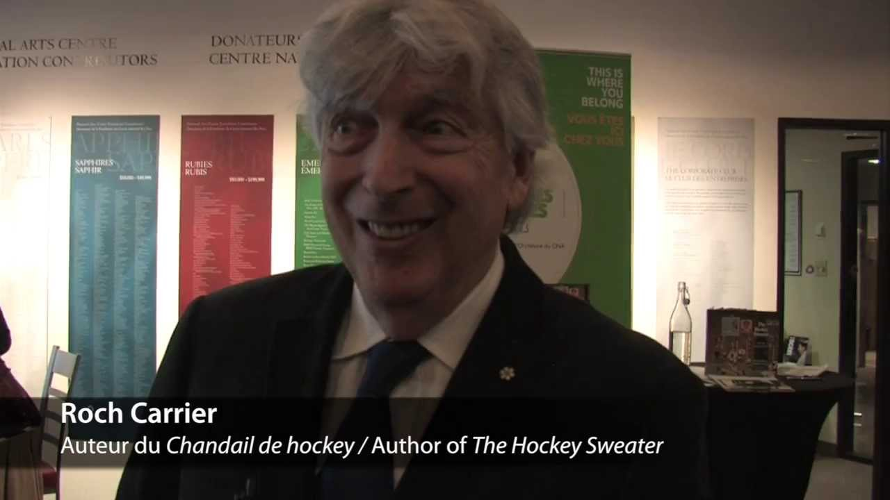 video: Interview with Roch Carrier, author of The Hockey Sweater (2013)