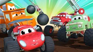 Monster trucks for children - The skittle bowl - Monster Town