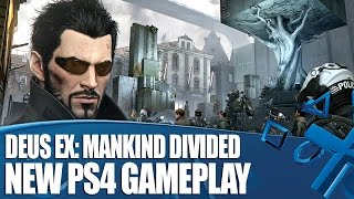 Dave and Nath play Deus Ex Mankind Divided on PS4 with direct feed gameplay of the firstperson action RPG The mission here takes place in an Aug ghetto
