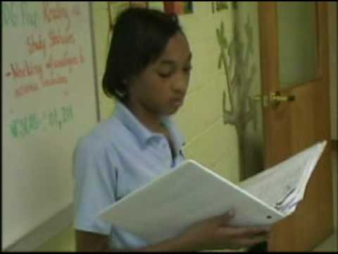 Student Reciting what she wants in life - Healthy Start Academy of Durham, NC