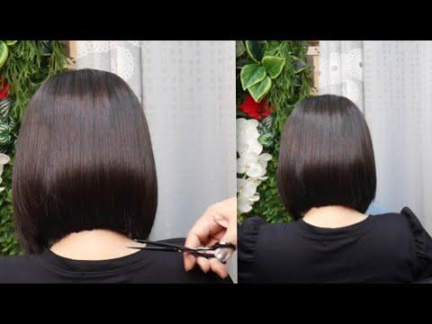 Sweet bob thin haircut tutorial ตัดผมบ๊อบ สำหรับคนผมบาง แบน ผมเส้นเล็ก