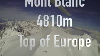 21 May 2016 Mont Blanc Helicopter flight with Top of Europe Organisation