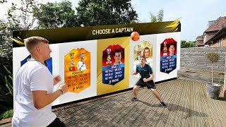 GARDEN FOOTBALL CHALLENGES!!! Fifa 16 FUT Draft Showdown feat. REAL LIFE FOOTBALL