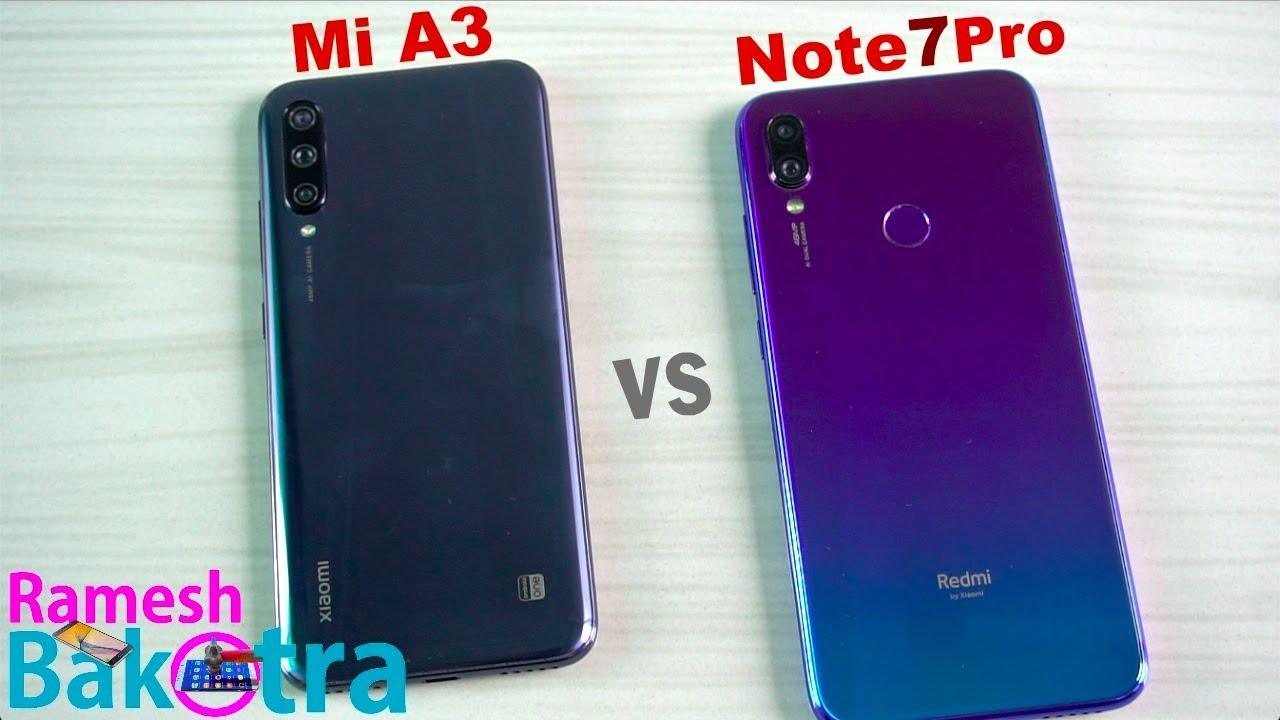 Mi a3 vs note 7 pro
