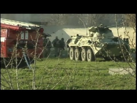 Russians Storm Crimean Base