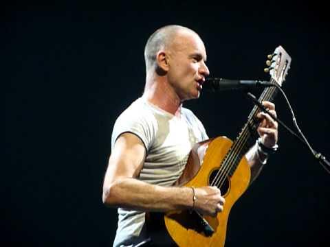 Sting Message in a bottle( sting swears at fan).  Newcastle 5/2/2012