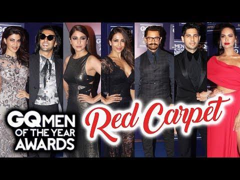 GQ Men of the Year Awards 2017 RED CARPET  FULL HD Video  Ranveer, Anushka, Aamir Khan, Jacqueline
