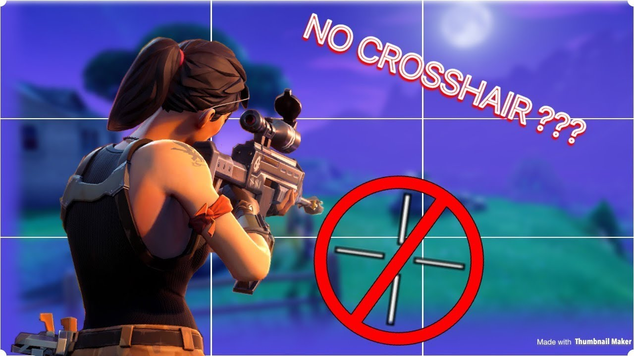 HOW TO FIX NO CROSSHAIR PROBLEM ON FORTNITE BATTLE ROYALE (PS4)