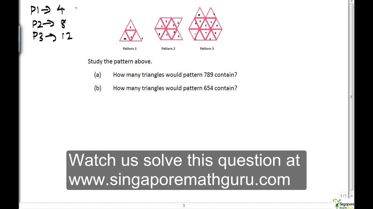 Primary 6 Math. Patterns - YouTube