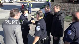 USA: Russian plane with medical aid unloaded at JFK airport