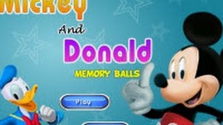 Mickey Mouse and Donald Duck Memory Balls Game