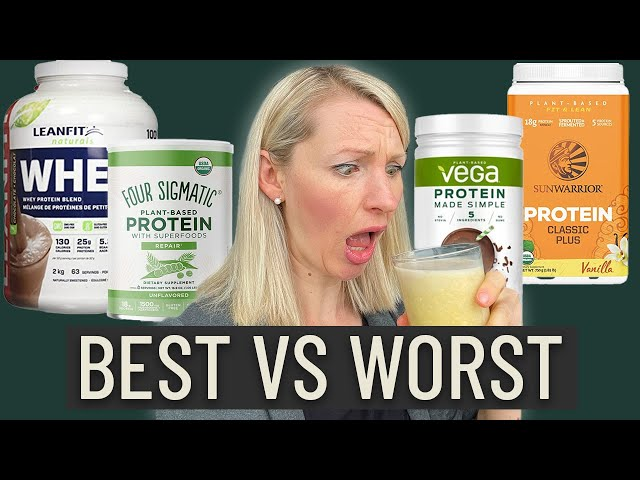 Dietitian Reviews the BEST and WORST Protein Powders (WATCH BEFORE YOU BUY!)