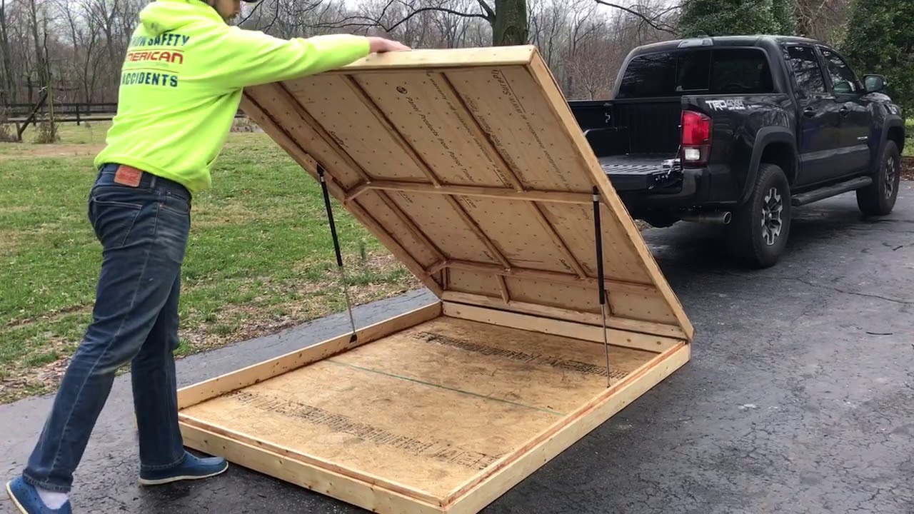 Diy Roof Top Tent Installed Hinge Gas Struts Youtube