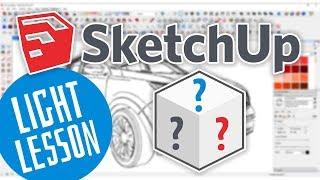 sketchUP - Измерение объектов, размеры и размерные линии (SketchUP уроки)
