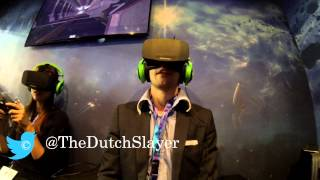 Trying out the Oculus Rift HD for the first time with EVE: Valkyrie at Gamescom 2013