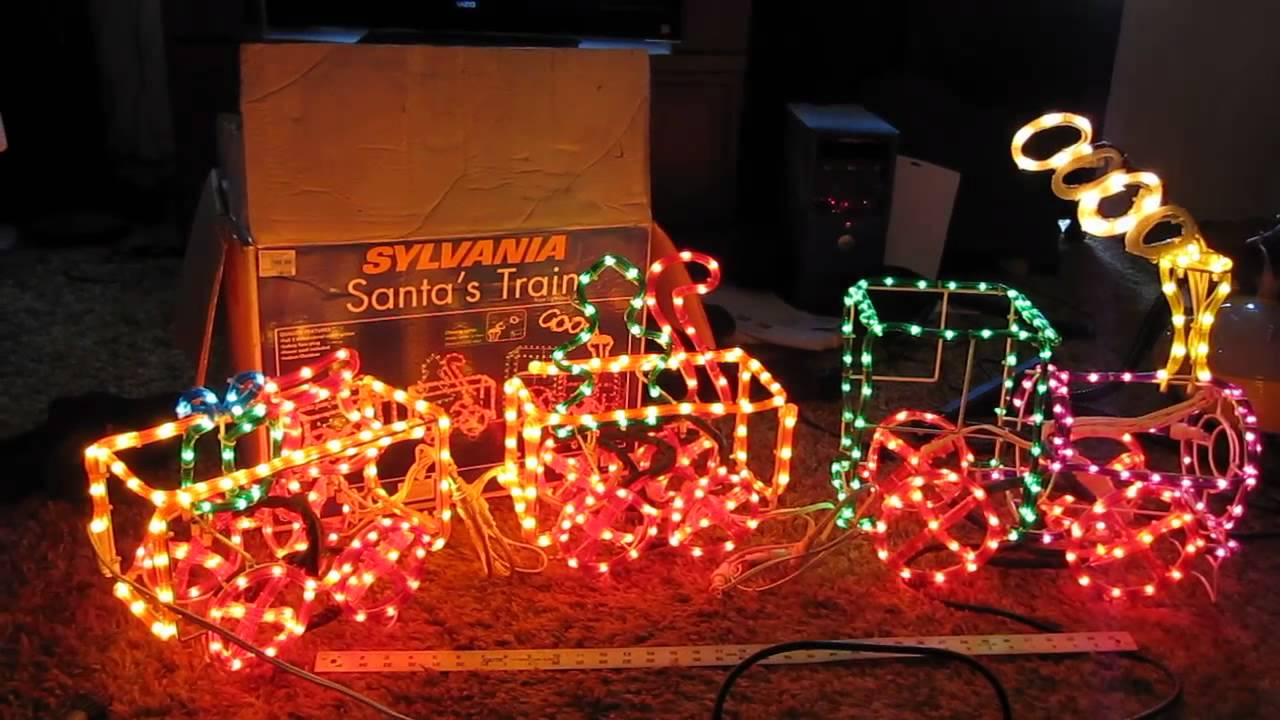 sylvania ropelight christmas train animated youtube