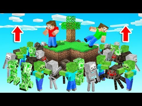 Minecraft SKYBLOCK But MOB SEA Rises!