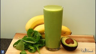 AVOCADO AND RIGHT BANANA SMOOTHIE IN THE MORNING WEIGHT LOSS DRINK !!