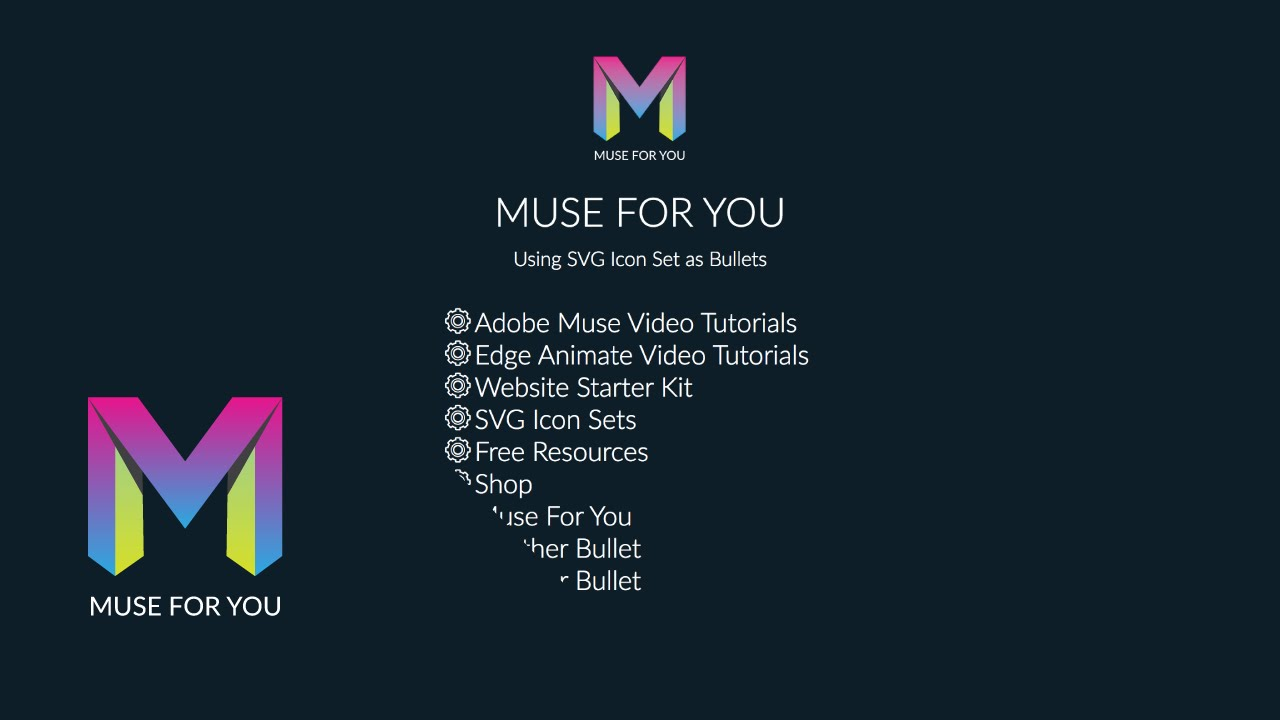 Adobe Muse CC 2015 | Using SVG Icon Set as Bullets | Muse For You