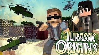 "Jurassic World Origins #14 ""DINOSAUR POACHERS?"" (Dinosaur Mod Minecraft Roleplay)"