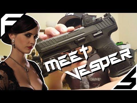 """""""Meet Vesper""""; Modified HK VP9 w/ Trijicon RMR"""