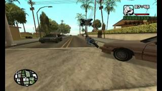 GTA San Andreas First Person Camera Cheat Mod How to Install EASY with GAMEPLAY