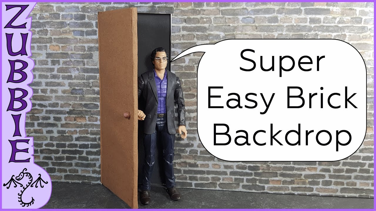 DIY Cheap  Easy Brick Wall  Door Backdrop for 112 scale