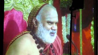 Bharati Tirtha Mahaswamiji, presenting the  Award to  Pujya Sri Swami Dayananda Saraswati.