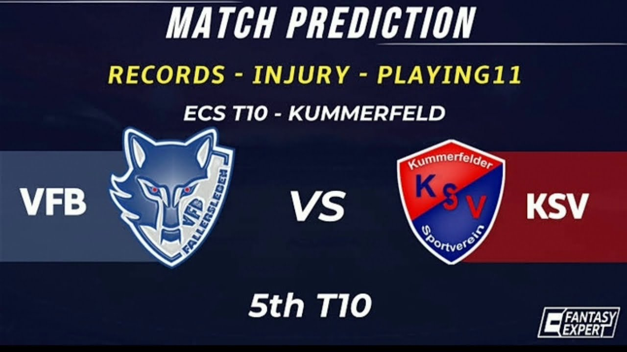 Match Prediction of 5th Match of ECS T10 Kummerfield VFB vs KSV dated 30th June 2020 фотки