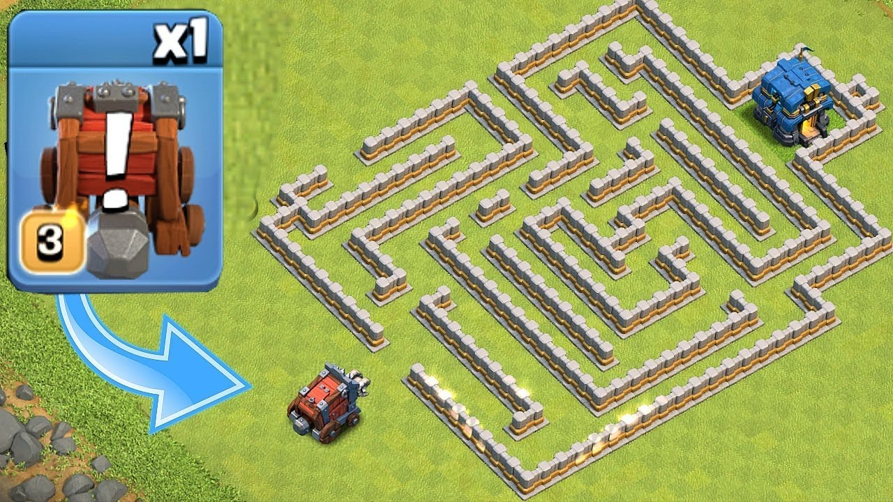 "NEW WALL WRECKER MAZE!!! ""Clash Of Clans"" CAN YOU SURVIVE!?!"