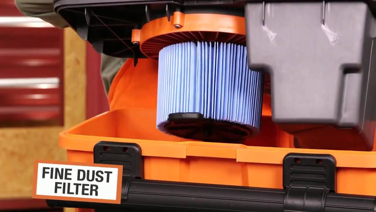 Home depot wet dry vac - Ridgid Pro Pack Wet Dry Vac At Home Depot