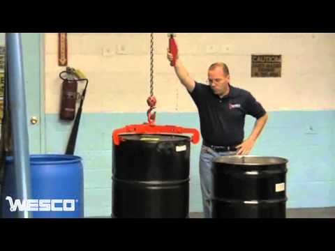 Wesco Drum Lifter For 30- & 55-gallon Steel Or Plastic Drums - DL5530