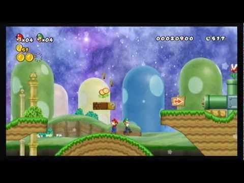 Cannon Super Mario Bros Wii Co Op 100 Walkthrough Part 1