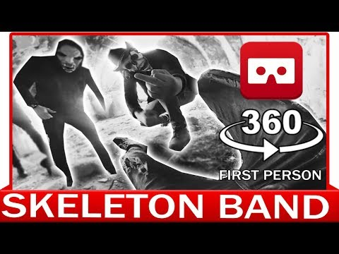 360° VR VIDEO - SKELETON BAND - HORROR VIRTUAL REALITY 3D