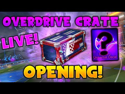 CRIMSON ANIMUS GP! HUGE OVERDRIVE CRATE OPENING - Rocket League! (Overdrive Crate Trading)