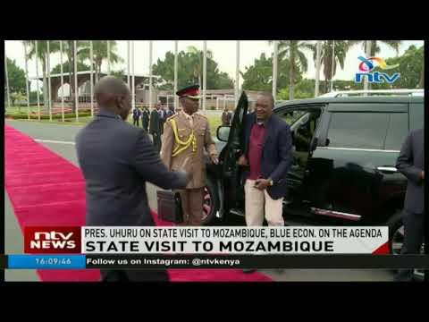 President Uhuru Kenyatta travels to Mozambique