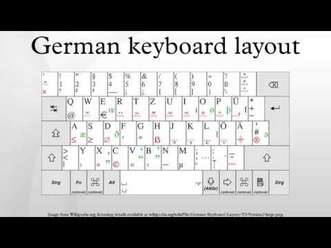 German keyboard layout youtube german keyboard layout ccuart Gallery