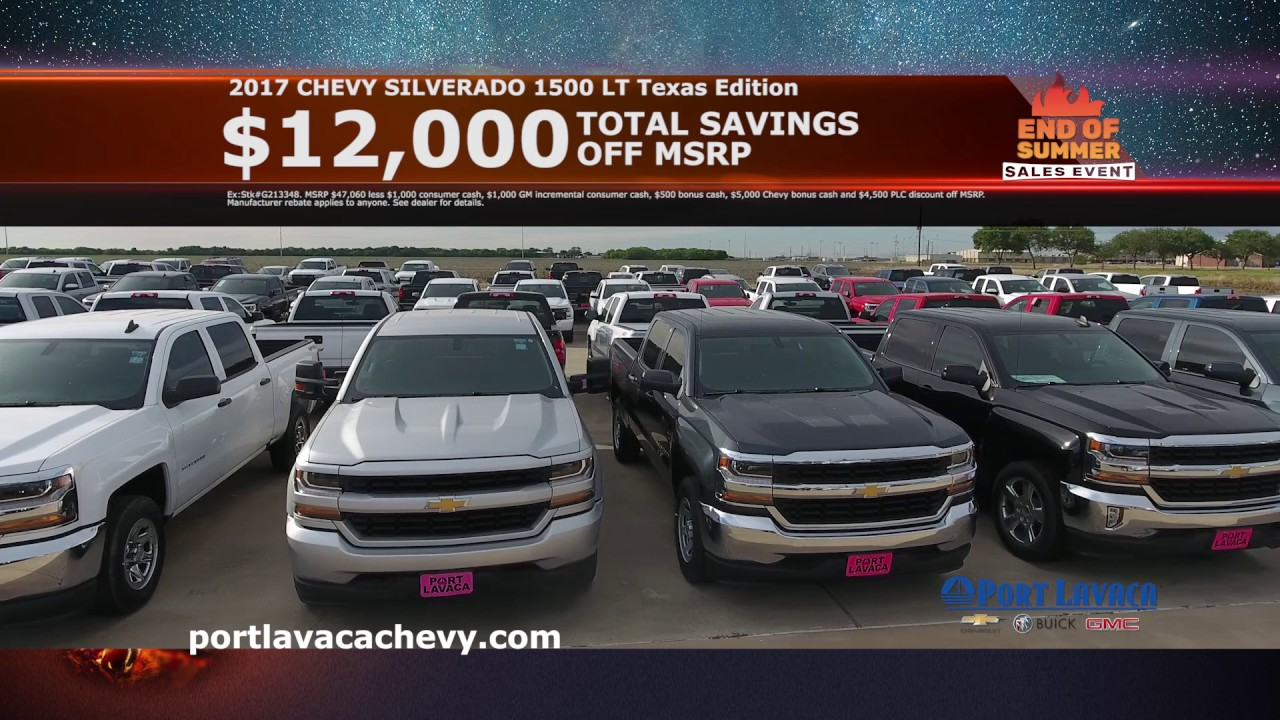 Port Lavaca Chevy >> Port Lavaca Chevy End Of Summer Sales Event August 2017 Youtube