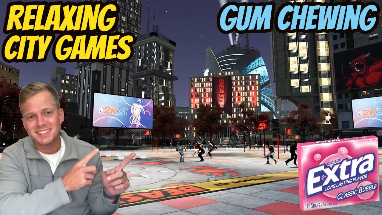 ASMR Gaming: NBA 2K21   Relaxing Games In The City! - Gum Chewing & Whispering