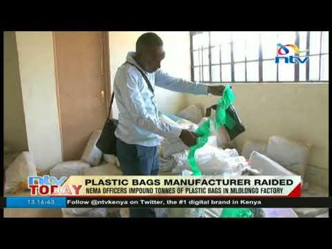 NEMA raids plastic bag manufacturer, impounds tonnes of banned product